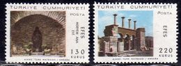 TURCHIA TURKÍA TURKEY 1967 VISIT OF POPE PAUL VI HOUSE VIRGIN MARY EPHESUS VISITA PAPA PAOLO COMPLETE SET SERIE MNH - 1921-... Republic