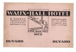 Buvard Waux-Hall Hôtel Paris 10e - Format : 13.5x21 Cm - Other