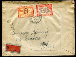G10-112 SAN MARINO 1947 Raccomandata Affrancata Con Roosvelt 31 L. + 50 L., Annullo Di Arrivo, Ottime Condizioni - Saint-Marin