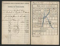 DEUX CARTES AVEC REPIQUAGES AU VERSO, D'un Dépôt D'allumettes à Villefranche Sur Saône Et D'es Fonderies De Terre-Noire. - 1849-1876: Klassik
