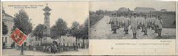 RAMBERVILLERS Double CP.Place Des Vosges.Les Clairons Du 17 ème Bataillon De Chasseurs - Rambervillers