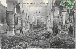 HIRSON : L'EGLISE INCENDIEE LE 9 JANVIER 1906 - Hirson