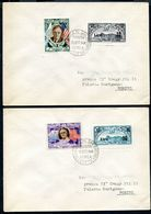 G10-28 SAN MARINO 1948 2 Buste Affrancate Con 2 Valori Posta Aerea 1942 Sovrastampati, Buste Non Viaggiate, Valutazione - Saint-Marin