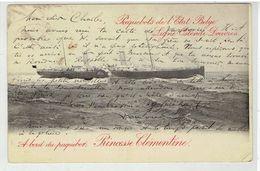 Paquebots De L' Etat Belge - Ligne Ostende - Douvres - Princesse Clementine - Vers Mockba - Russie - Paquebots
