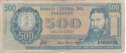BILLETE DE PARAGUAY DE 500 GUARANIES DEL AÑO 1995  (BANKNOTE) - Paraguay