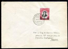 G10-30 SAN MARINO 1948 Busta Affrancata Con Delfico 100 L. Sovrastampato, Busta Non Viaggiata, Valutazione Come Usato, O - Saint-Marin