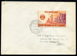 G10-27 SAN MARINO 1948 Busta Affrancata Con UNRRA 100 L, Busta Non Viaggiata, Valutazione Come Usato, Ottime Condizioni - Saint-Marin
