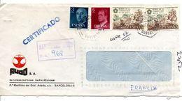 ESPAGNE LETTRE RECOMMANDEE DE BARCELONE POUR LA FRANCE 1977 - 1931-Hoy: 2ª República - ... Juan Carlos I