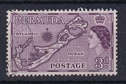 Bermuda: 1953/62   QE II - Pictorial    SG140   3d   [Die I - Sandy's]   Used - Bermudas