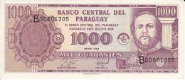 BILLETE DE PARAGUAY DE 1000 GUARANIES DEL AÑO 1998 EN CALIDAD EBC (XF) (BANKNOTE) - Paraguay