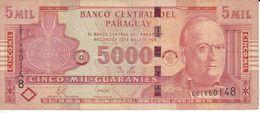BILLETE DE PARAGUAY DE 5000 GUARANIES DEL AÑO 2008 (BANK NOTE) - Paraguay