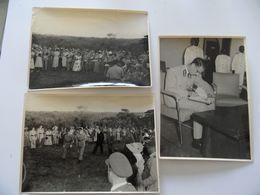 CONGO LOT 10 Photos 18x13 + 1 Carte Postale Garden Party En L'honneur Du ROI BEAUDOUIN 1 De Belgique 25/05/1955. - Congo Belge - Autres