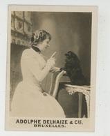 PHOTOS ORIGINALES - PUBLICITE - Femme Avec Chien Faisant Le Beau , PUB ADOLPHE DELHAIZE & CIE à BRUXELLES - BELGIQUE - Berufe