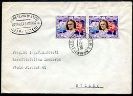 G10-103 SAN MARINO 1948 Lettera Affrancata Con Roosvelt 5 L. Coppia, Annullo Di Arrivo, Ottime Condizioni - Saint-Marin