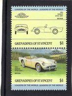 Daimler SP250 Dart  (1959)  -  2v Se-tenant MNH  -   Grenadines Of St Vincent - Voitures