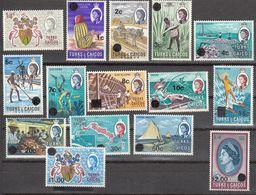 Turks & Caicos 1969   Set Of 15  SG297  To   SG311     MH, MNH - Turks And Caicos