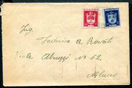 G10-118 SAN MARINO 1948 Lettera Affrancata Con Stemmi L. 1 E 3,  Annullo Di Arrivo, Ottime Condizioni - Saint-Marin