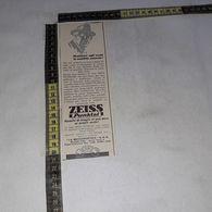 RT1728 PUBBLICITA' ZEISS PUNKTAL LA MECCANOPTICA SAS OCCHIALI LENTI - Victorian Die-cuts