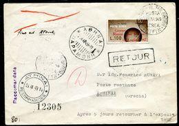 G10-22 SAN MARINO 1949 Aerogramma Affrancato Con Giornata Filatelica Posta Aerea 100 L. Del 1947 Per Atene, Numerosi Ann - Saint-Marin