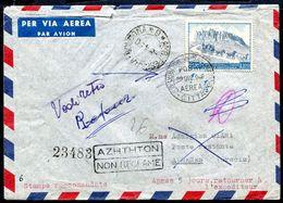 G10-8 SAN MARINO 1949 Aerogramma Affrancato Con UPU 100 L. Del 1949 Per Atene, Annullo FDC, Numerosi Annulli Di Transito - Saint-Marin
