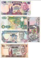 Zambia Lot 5 Banknotes UNC/AUNC .LF1. - Zambie
