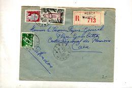 Lettre Recommandée Percy Sur Decaris Moisson Tlemcen - Marcophilie (Lettres)