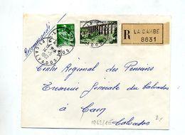 Lettre Recommandée La Cambe Sur Moisson Viaduc - Marcophilie (Lettres)