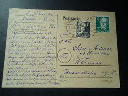 GERMANY POSTKARTE 1950  2 SCAN - [7] Federal Republic