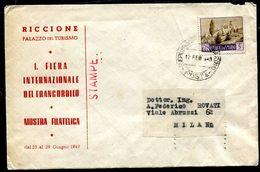 G10-82 SAN MARINO 1949 Lettera Stampe Affrancata Con Paesaggi 5 L., Annullo Di Arrivo, Buone Condizioni - Saint-Marin