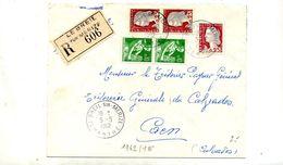 Lettre Recommandée Le Breil Sur Merize Sur Decaris Moisson - Marcophilie (Lettres)