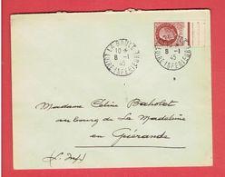 POCHE DE SAINT NAZAIRE 8 JANVIER 1945 LA BAULE POUR GUERANDE PETAIN SUR ENVELOPPE GUERRE 1939 1945 WWII - 2. Weltkrieg 1939-1945