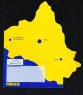 """RARE Pap Aveyron 12 Carte Du Département  """" Villefranche De Rouergue, Rodez, Millau, Roquefort, Levezou Marcillac..."""" - Wallis Y Futuna"""