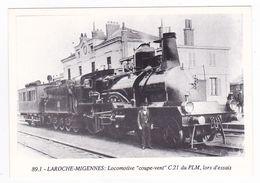 CPM TRAIN VOIR DOS 89 Laroche Migennes N°89.1 Locomotive Vapeur Coupe Vent C21 Du PLM En Essais - Migennes