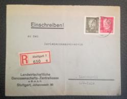 COVER 1929 - Recommend - STUTTGART To LIEBENZELL - PERFORATED - Brieven En Documenten