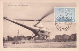 Carte Maximum - PA N°25 Hélipost - 1er Courrier Belge Par Hélicoptère - 1950 - Airmail