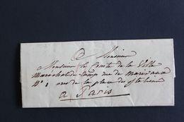 1827 LSC ADRESSEE AU COMTE DE LA VILLE MARECHAL DE CAMP A PARIS CACHET DU 17 JUILLET 1827 MARQUE DE LEVEE.. - 1801-1848: Précurseurs XIX