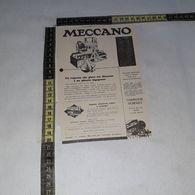 RT1746 PUBBLICITA' MECCANO GIOCATTOLI - Victorian Die-cuts