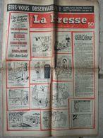 Journal La Presse Magazine N°580 (18/24 Déc 1958)  J Gréco - Roman Inédit Anne Mariel - 1950 à Nos Jours