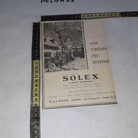 RT1751 PUBBLICITA' SOLEX A STARTER AUTOMATICO S.A.I. TORINO - Victorian Die-cuts