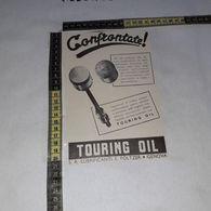 RT1752 PUBBLICITA' GENOVA S.A. LUBRIFICANTI E. FOLTZER TOURING OIL - Victorian Die-cuts