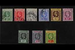 1913-19  Complete Set, SG 69/77, Good To Fine Cds Used, Fresh. (9 Stamps) For More Images, Please Visit Http://www.sanda - British Virgin Islands