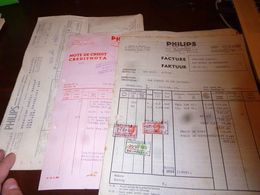 FF1 Lot De 4 X Document Commercial Facture Philips 1943 Bruxelles - Belgien