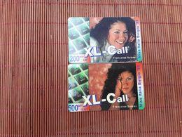 2 Different XLCall Mis Italia 200 BEF+ 500 BEF Used Rare - Belgique