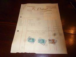 FF1 Document Commercial Facture  Ets R. Pintez Waterloo Manufacture De Petits Articles D'ameublement - Belgien