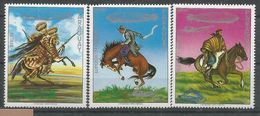 PARAGUAY HORSES, 3v, MNH - Horses