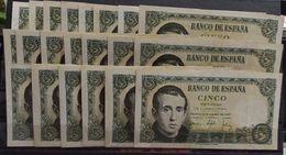 EDIFIL 459a.   LOTE DE 21 BILLETES 16 DE AGOSTO DE 1951.  JAIME DE BALMES. - [ 3] 1936-1975 : Régimen De Franco