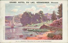 88  GERARDMER / Lac Vu De La Route De Ramberchamps - GRAND HOTEL DU LAC / BELLE CARTE DE PUB - Gerardmer