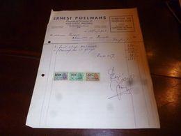 FF1 Document Commercial Facture  Ernest Poelmans Hofstade Malines Fabrique De Fauteuil Club 1953 - Belgien