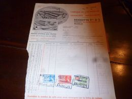 FF1 Document Commercial Facture  Fabrique De Lits Anglais Rennotte Bruxelles 1939 - Belgien