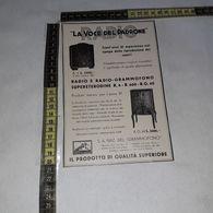RT1766 PUBBLICITA' LA VOCE DEL PADRONE RADIO GRAMMOFONO - Victorian Die-cuts